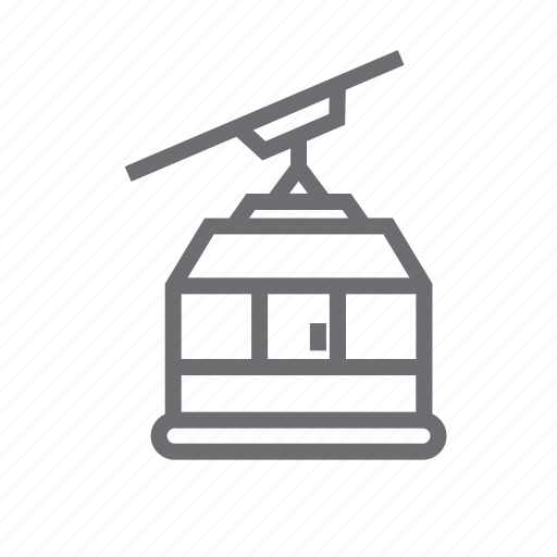cable, cable way, cableway, elevator, funicular, snow, train icon