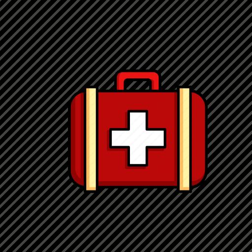 Medicine, medical, health, first aid, kit icon
