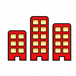 block, buildings, infrastructure, offices, real estate icon