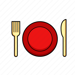 cutlery, dining, dinner, food, lunch, meal, plate icon