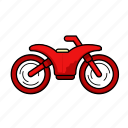 dirt bike, motorbike, motorcycle, transport, vehicle icon