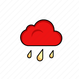 clouds, overcast, raining, storm, water, weather icon
