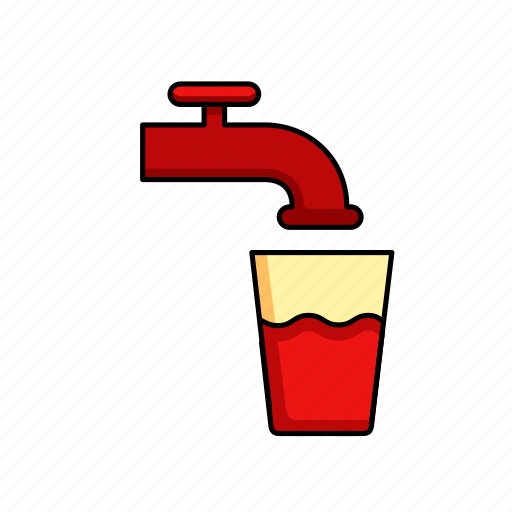 clean, drink, fresh, glass, tap water icon