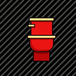 bathroom, facilities, flush, toilet, wc icon
