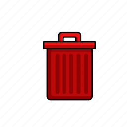 bin, delete, garbage, rubbish, trash, waste icon