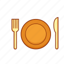 plate, lunch, food, cutlery, dining, dinner, meal