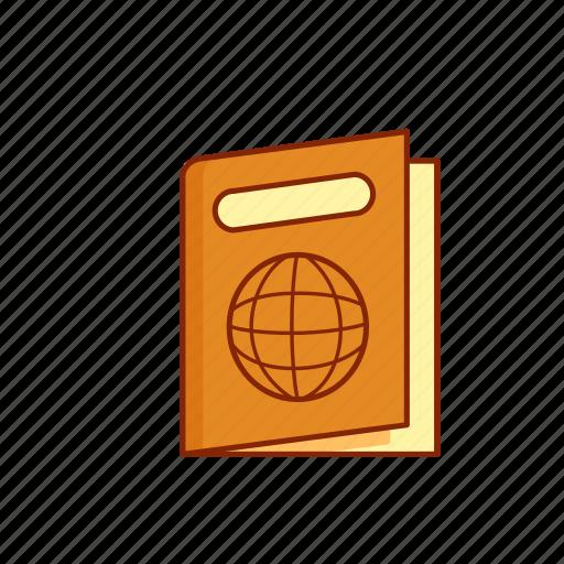 identity, pass, passport, person, tourist, travel icon