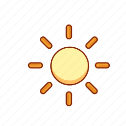 bright, day, forecast, light, sunny, weather icon