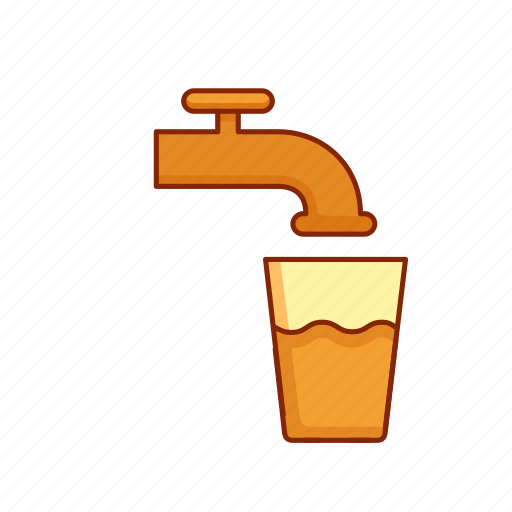 Fresh, drink, tap water, clean, glass icon
