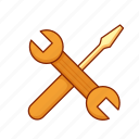 fix, mechanical, repair, screwdriver, tools, wrench icon