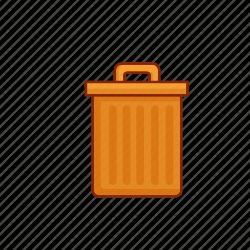 bin, delete, garbage, rubbish, trash, waste icon