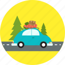 automobile, car, car travel, road, transportation, travel, vacation icon