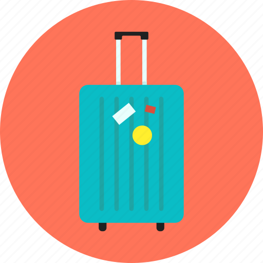 baggage, case, luggage, personal belongings, suitcase, travel, vacation icon