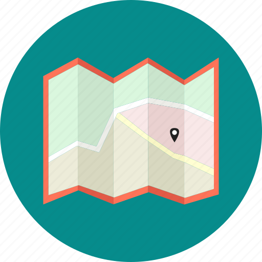 gps, journey, location, map, navigate, navigation, point of destination icon