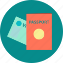 customs control, identity card, journey, passport, travel, visa icon