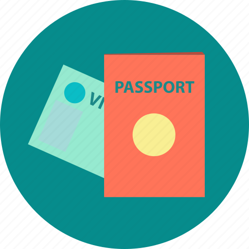customs control, identity card, journey, passport, travel, visa icon