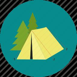 holiday, tent, tourism, tourist, travel, trekking icon