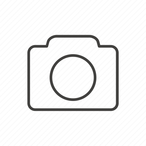 camera, line, photo, photographer, thin, travel icon