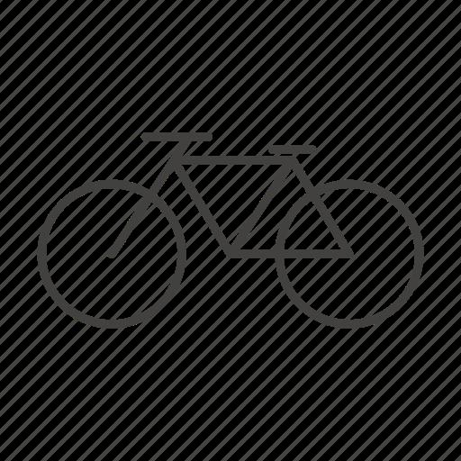 bike, line, thin, travel icon