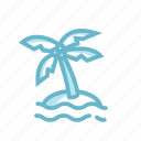 adventure, beach, coconut tree, island, palm tree, topical, vacation icon