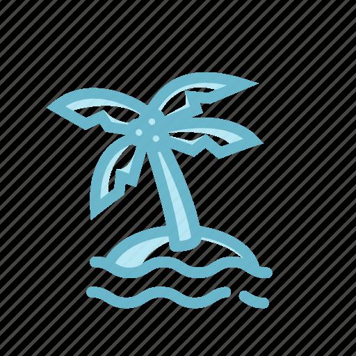 adventure, beach, coconut tree, island, palm tree, topical, vacation icon