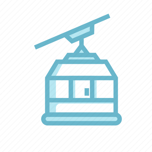 able way, cable, cableway, elevator, funicular, snow, train icon