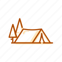 camp, campfire, camping, test, tourism, travel, trip, vacation icon