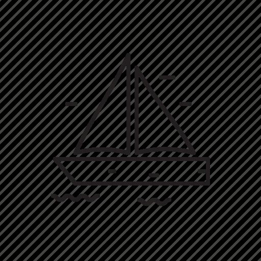 boat, sailing, sea, wind icon
