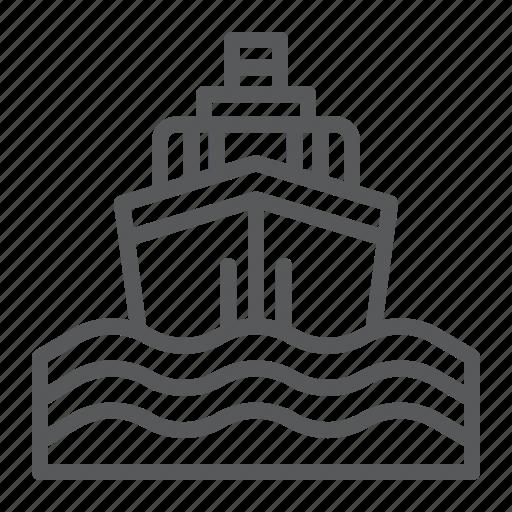 boat, cruise, journey, sea, ship, trip, yacht icon