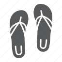 beach, flip, flops, footwear, sandal, sandals, slipper icon
