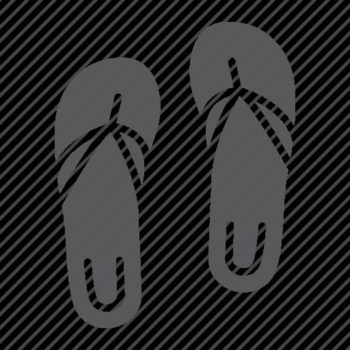 beach, flip, flops, footwear, sandal, sandals, slipper icon
