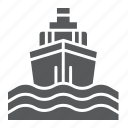 boat, cruise, journey, sea, ship, trip, yacht icon