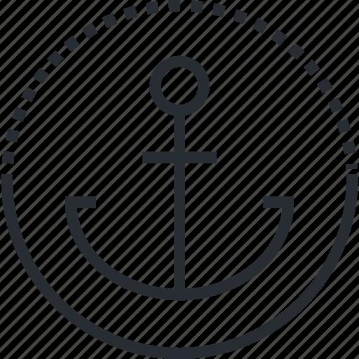 boat, cruises, line, port, thin, tourism, travel icon