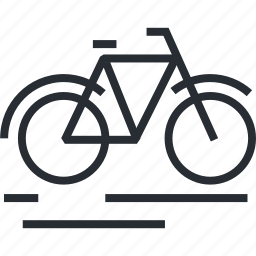 bicycle, line, recreation, sport, thin, tourism, travel icon