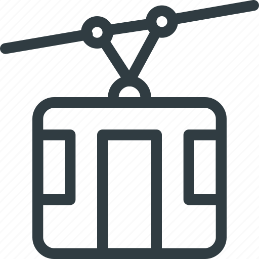 cable, car, cart, tourism, travel icon