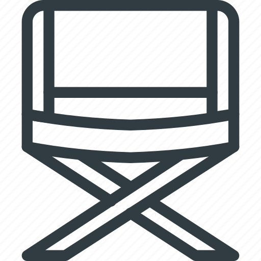 Chair, camp, tourism, travel, camping icon