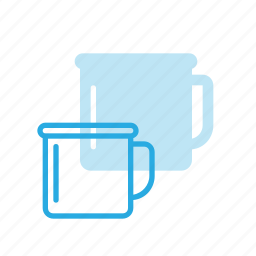 camping, cup, drink, tourism, travel icon
