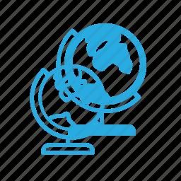 globe, location, map, school, tourism, travel icon