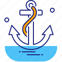 anchor, boat, cruise, marine, nautical, sea, ship icon