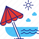 beach, holiday, ocean, sea, summer, travel, vacation icon