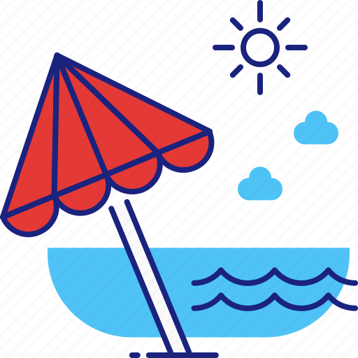 beach, holiday, ocean, sea, summer, travel, vacation icon