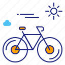 bicycle, bike, cycle, cycling, cyclist, exercise, travel icon
