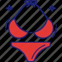 bikini, bra, lingerie, panty, sexy, undergarments, underwear icon