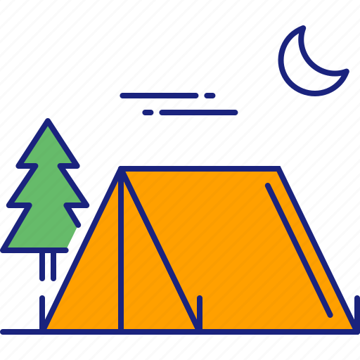 camp, camping, nature, outdoor, outdoors, tent, travel icon