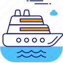 boat, cruise, luxury, sea, ship, summer, vessel icon