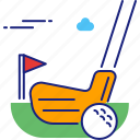 course, golf, golfing, sport, sports, summer icon