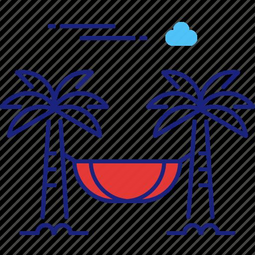beach, hammock, holiday, relax, summer, travel, vacation icon