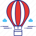 air, balloon, flight, hot, hot air balloon, weather icon