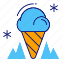 cone, cool, cream, dessert, ice, ice cream, icecream icon