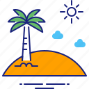 beach, holiday, holidays, island, summer, travel, vacation icon
